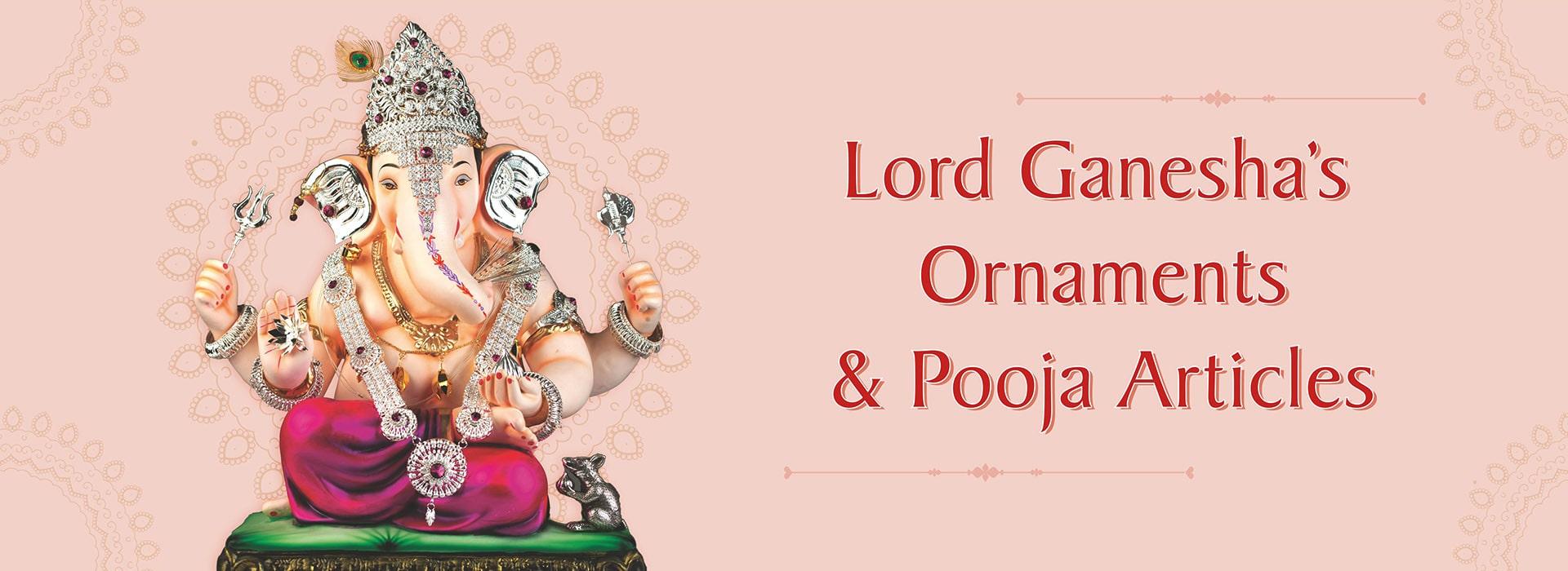 Lord Ganesha Ornaments and Pooja Sahitya